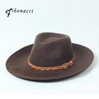 Fibonacci Grand Bord Fedora Cap Mode Feutre De Laine Jazz Chapeau pour Hommes Femmes Cowboy Casquettes Automne Hiver Trilby Chapeau Juif