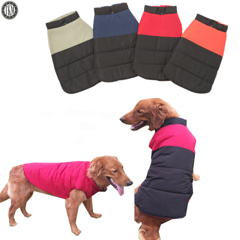 TKM Pet Dog Cotton Clothes Winter Warmly Windproof Dog Down Park Double Wear Outdoor Sport Dog Clothes Pets Dog Supplier TMPC09