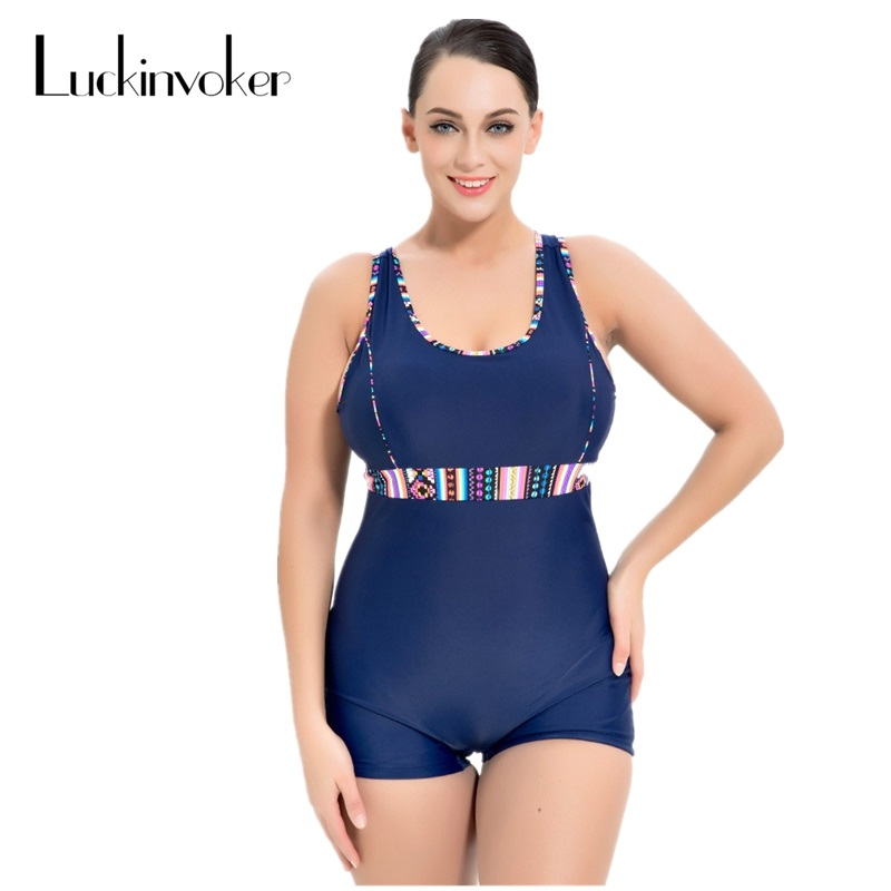 Plus Size One Piece Swimsuit Women Swimwear Push Up Padded Retro Swimming Suit Large Size Swimsuit Female Swimmer Bathing Suit plus size scalloped backless one piece swimsuit