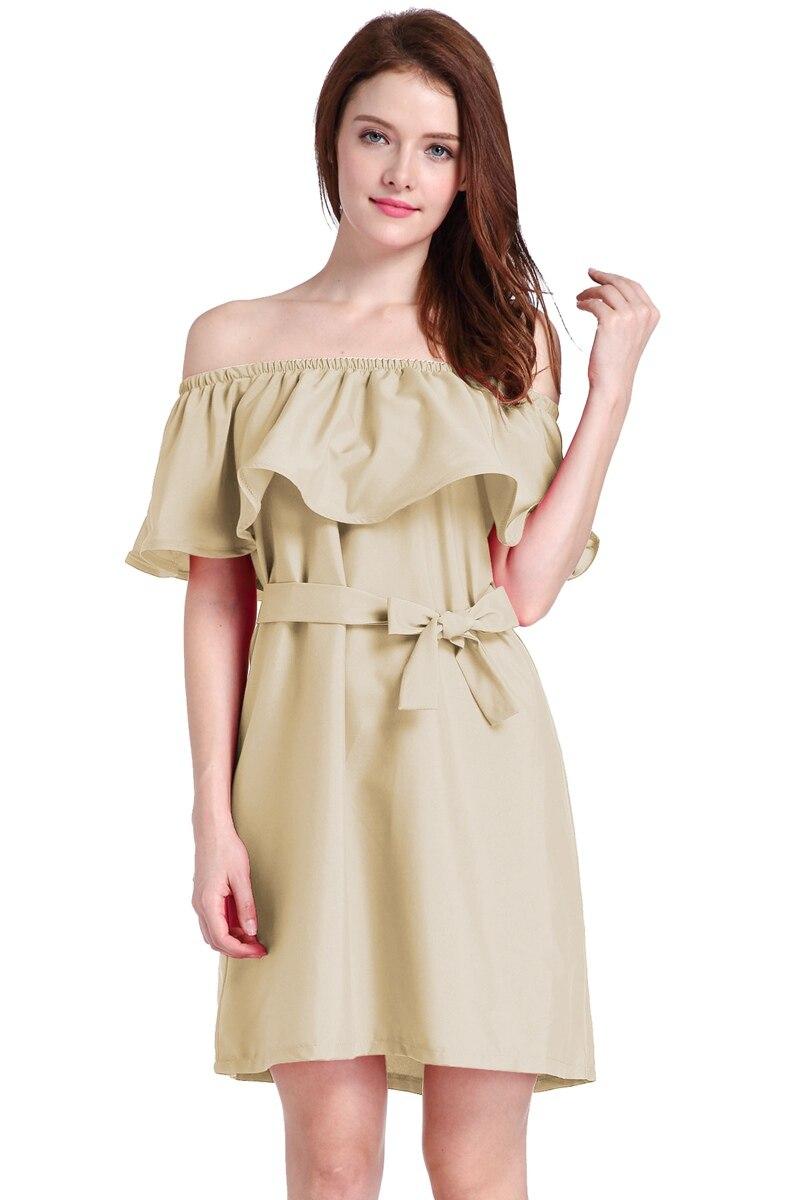 فروش داغ زنان مد تابستانی بدون تسمه - لباس زنانه