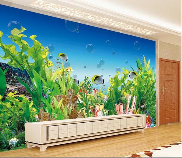 3d room wallpaper custom mural non woven wall sticker for Aquarium mural wallpaper