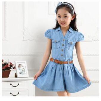 Girls Denim Dress 2016 Fashion Girls Princess Dress Toddler Girl Party  Dress Girls Jeans Dress With Belt,in Dresses from Mother \u0026 Kids on  Aliexpress.com