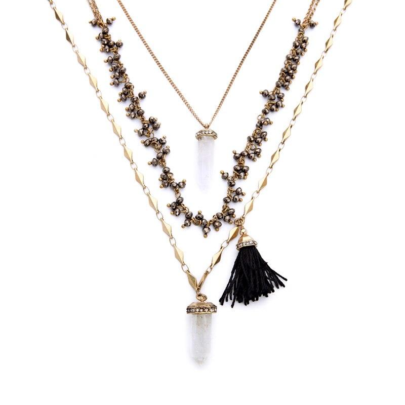 Topshop Tassel Drop Layered Necklace | Nordstrom