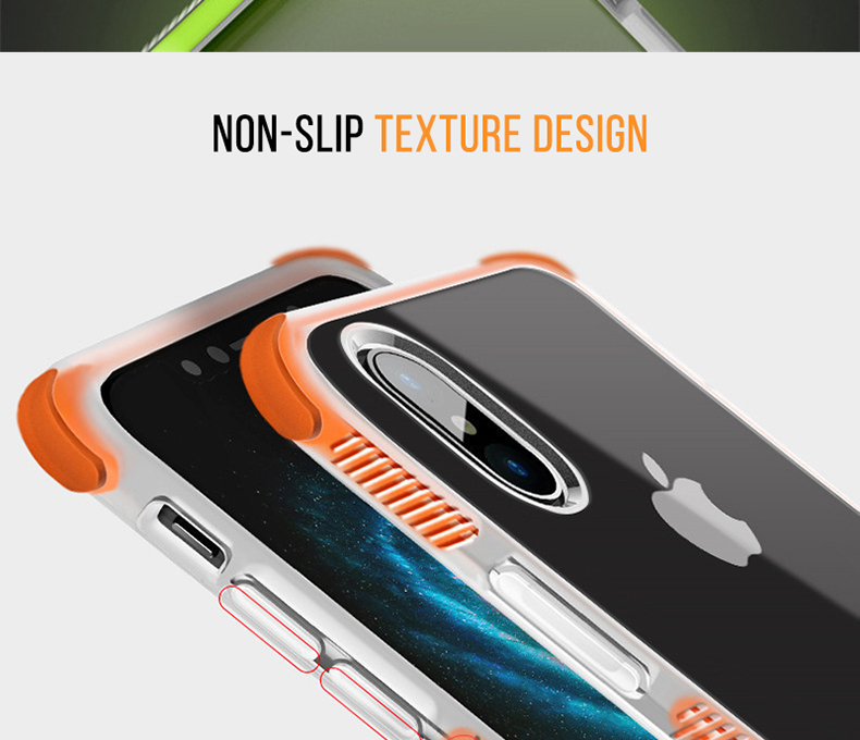Military grade Anti-knock Case For iPhone X iPhone 7 case soft clear Transparent 2 in 1 TPU+TPE Cover for iPhone 6 6s 7 8 plus (7)
