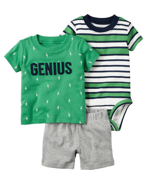 Original Summer Children Baby Girls Clothes Letter Muggletops+pants 3pcs Baby Bebe Outfit Newborn Infant Baby Boy Clothing Set Matching In Colour Mother & Kids Boys' Baby Clothing
