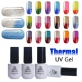 5ml BORN PRETTY Nail Glitter Shimmer Gel Temperature Color Changing Thermal Soak Off UV Gel Polish Manicure Nail Gel Varnish