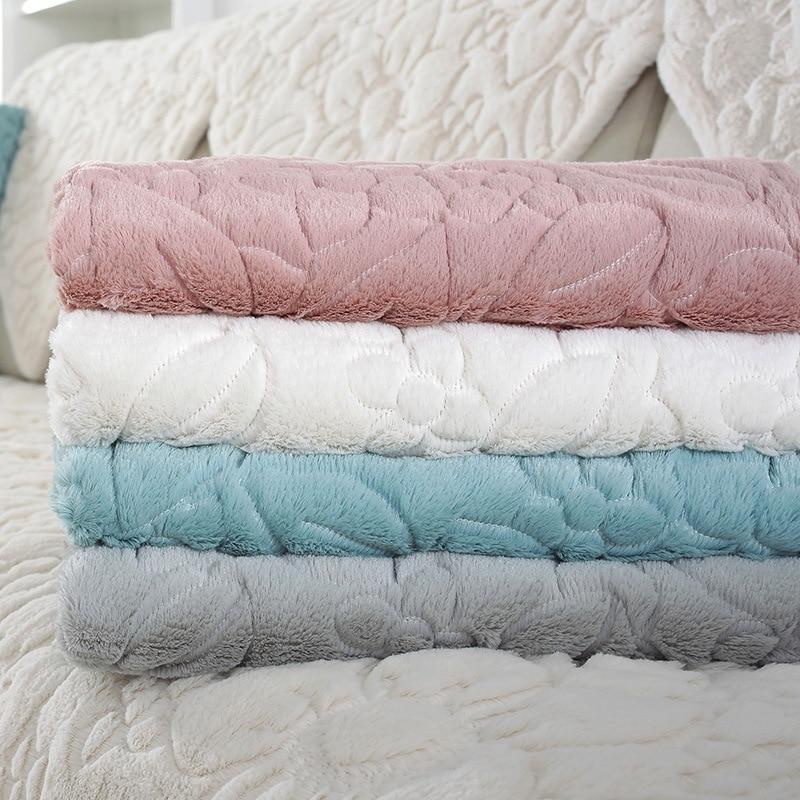 1 stücke Sofa Abdeckung Einfarbig Plüsch Couch Abdeckung Sitzkissen Europa Stil Leder Sofa L Ecke Nicht-Slip sofa Handtuch
