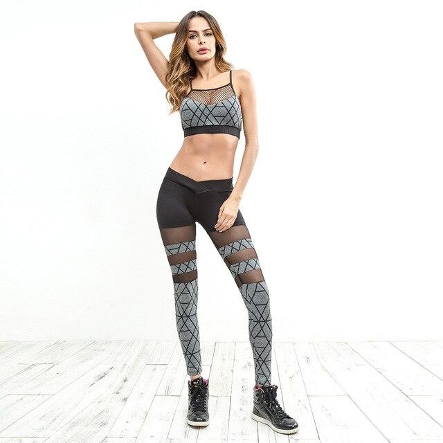 960aecabc636de 2018 NOWY Biustonosz + Pant Women Garnitur Sportowy Biustonosz Joga Spodnie  Do Biegania Na Zewnątrz Odzież