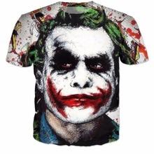 Бэтмен Джокер DC Comics Superhero 3D Печати Футболка suicide squad рубашки Harley Quinn Бойню джокер тройники Наряды Топы Тис