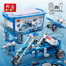 BanBao 8 In 1 Electric Power Energy Machine Technic Experiment Bricks Educational Model Building Blocks Children Kids Toy 6903