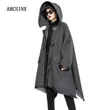 ARCSINX Plus Size Jacket Women 5XL 10XL 9XL 8XL 7XL Hooded A