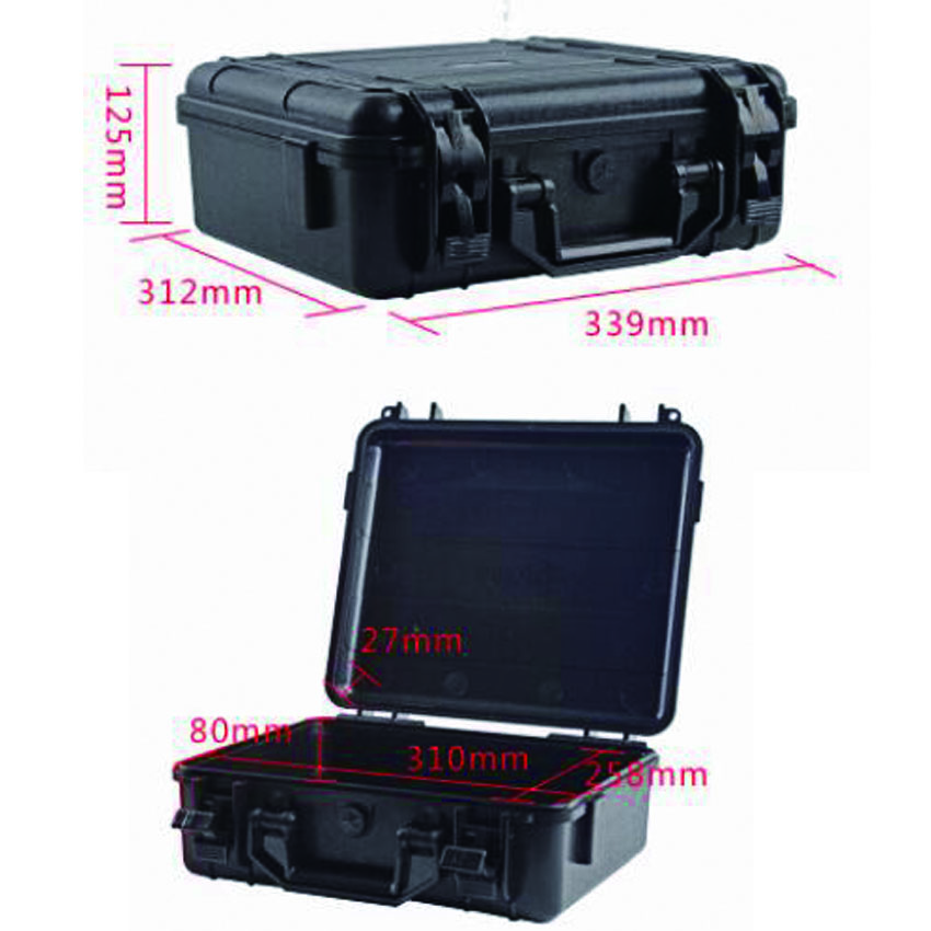 SQ207 ABS material black waterproof portable tool box with full precut foam insideSQ207 ABS material black waterproof portable tool box with full precut foam inside