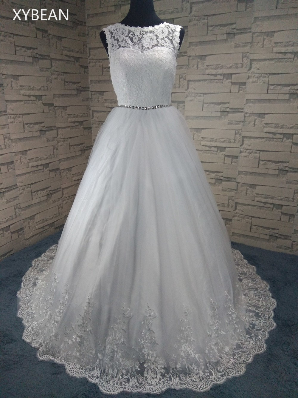 See Through Neckline Sweetheart spaghetti straps silky organza Lace Victorian Ball Gown white/Ivory Wedding Dresses FS1102