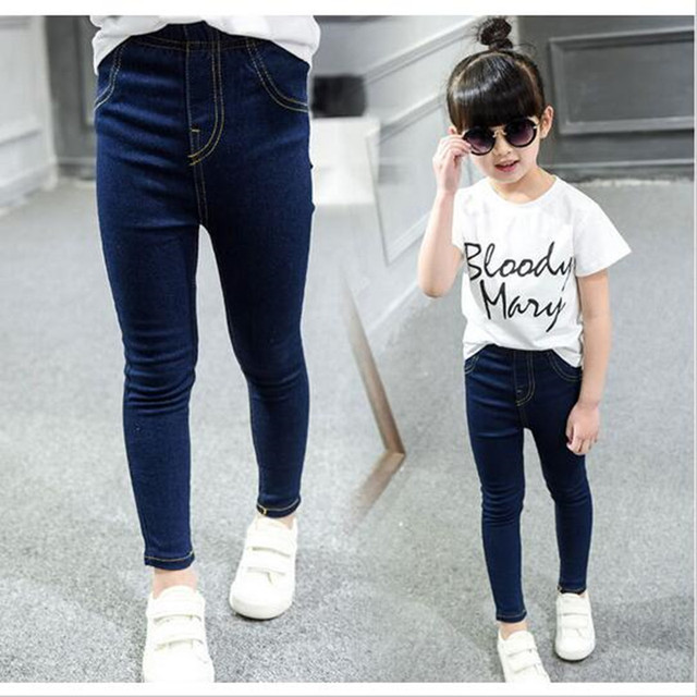 e035844e8 Spring and autumn girl thin children children's wear jeans trousers casual pants  pants 2-14