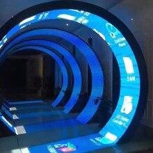 Прозрачный СВЕТОДИОДНЫЙ модуль P4 Гибкая Светодиодная панель 128x256 мм
