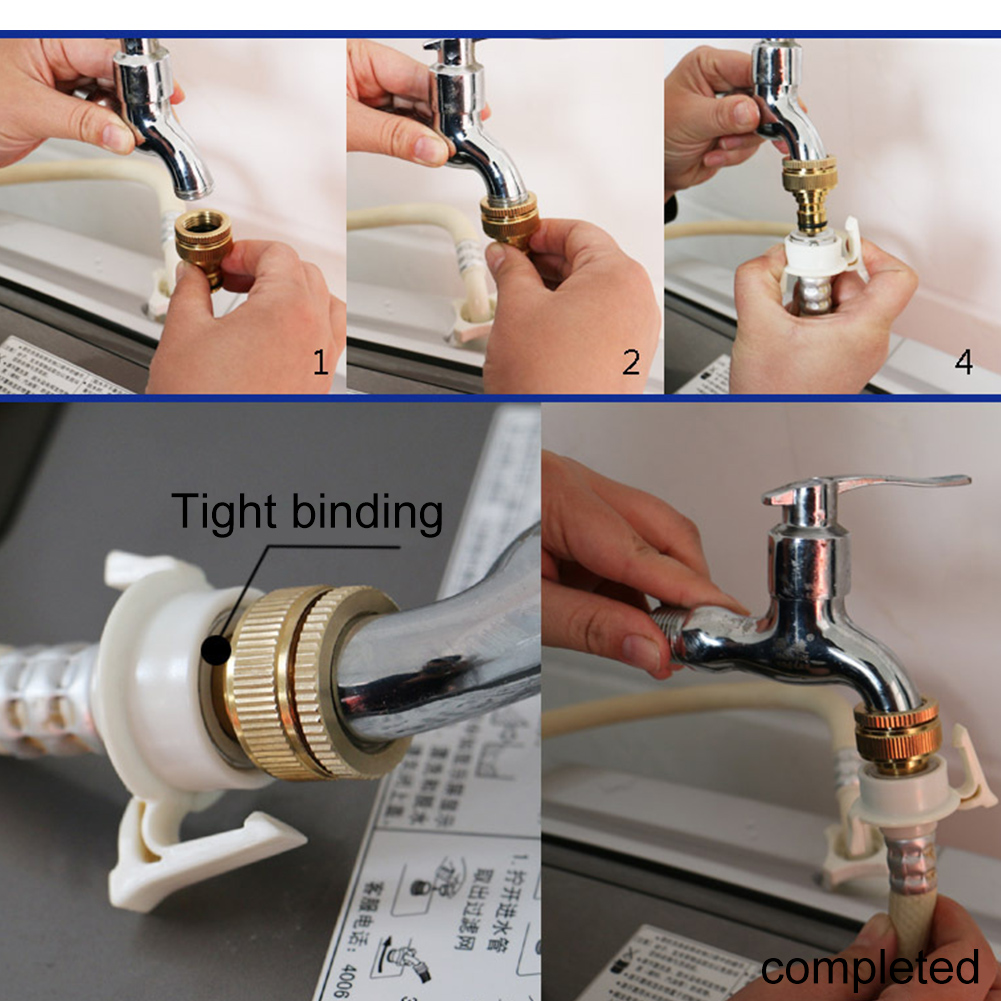 ZDYS латунный соединитель крана шланга, Медная вода стиральная машина резьба кран адаптер