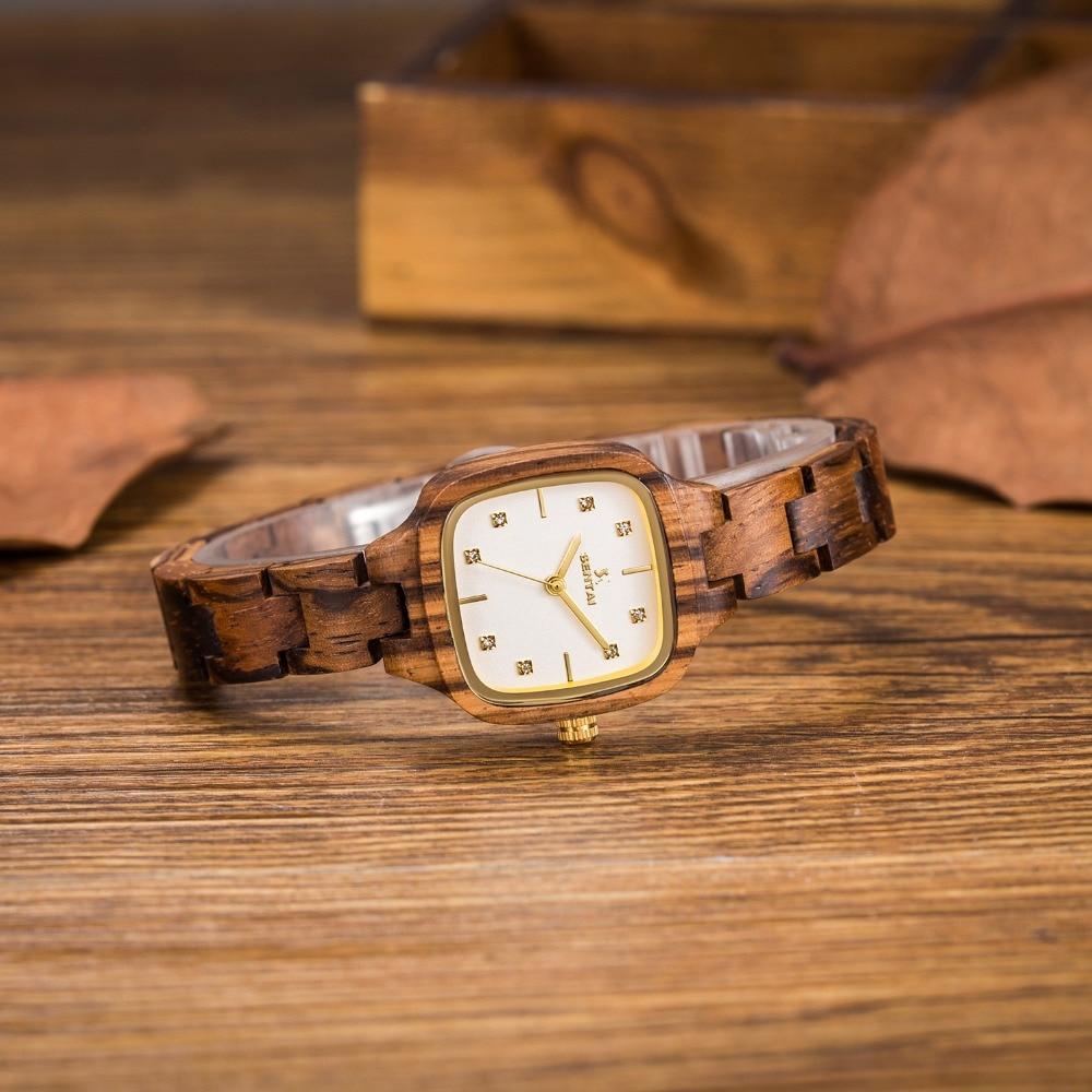 Sandal Wood Assista Marca relógios senhora Relógio