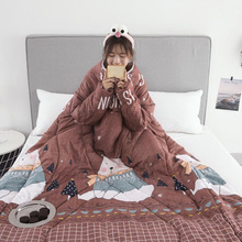 1 шт. «ленивое» одеяло с рукавами теплое плотное одеяло многофункциональное для дома зима ворс J2Y
