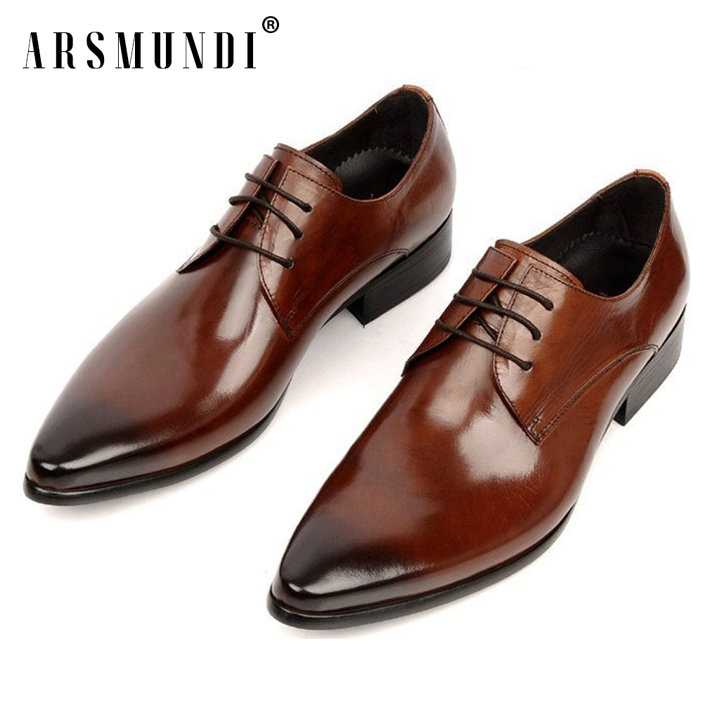 Classic Mens Genuine Leather Shoes Cowhide Leather Pig Inner Pointed Toe Derby Dress Wedding Business Shoes 2018 FashionClassic Mens Genuine Leather Shoes Cowhide Leather Pig Inner Pointed Toe Derby Dress Wedding Business Shoes 2018 Fashion