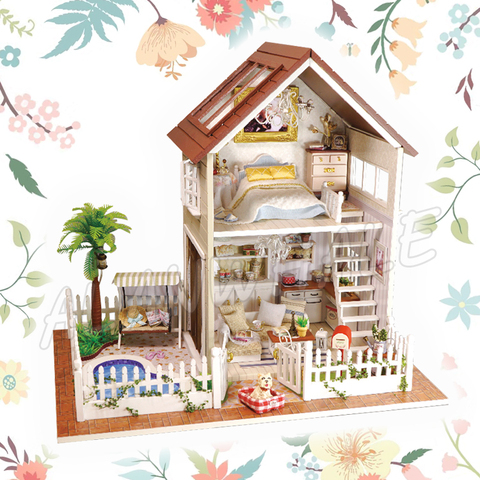 Pk Bazaar 2019 New Dollhouse Miniature Doll House Paris Apartment