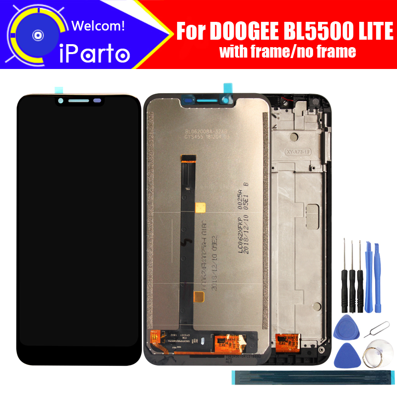6.2 inch Doogee BL5500 LITE LCD Display+Touch Screen Digitizer Assembly 100% Original LCD+Touch Digitizer for BL5500 LITE+Tools6.2 inch Doogee BL5500 LITE LCD Display+Touch Screen Digitizer Assembly 100% Original LCD+Touch Digitizer for BL5500 LITE+Tools