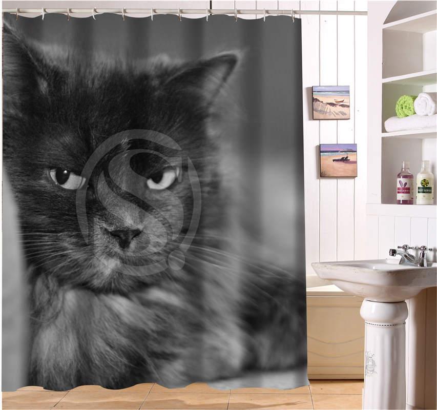 W622#212 Custom cats kitten animal Lovely cat #7 Modern Shower Curtain bathroom Waterproof Free Shipping #fj212