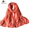 Fashion Solid Color Lace Scarfs Women Oversized Long Shawls artistic Style Retro Cotton Scarves Ladies Soft Warm Foulard