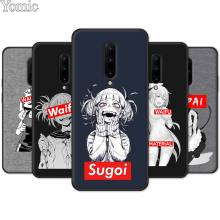 Phone Case for Oneplus 7 7 Pro 6 6T 5T Black Soft TPU Cover Shell for Oneplus 7 7Pro Silicone Case Sugoi Senpai Anime waifu