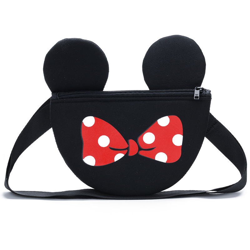Women Coin Purse Cartoon Cute Mickey Mini Parent-child  Phone Coin Bag New Trend Handbag Crossbody Bag Girls  Children's Bags