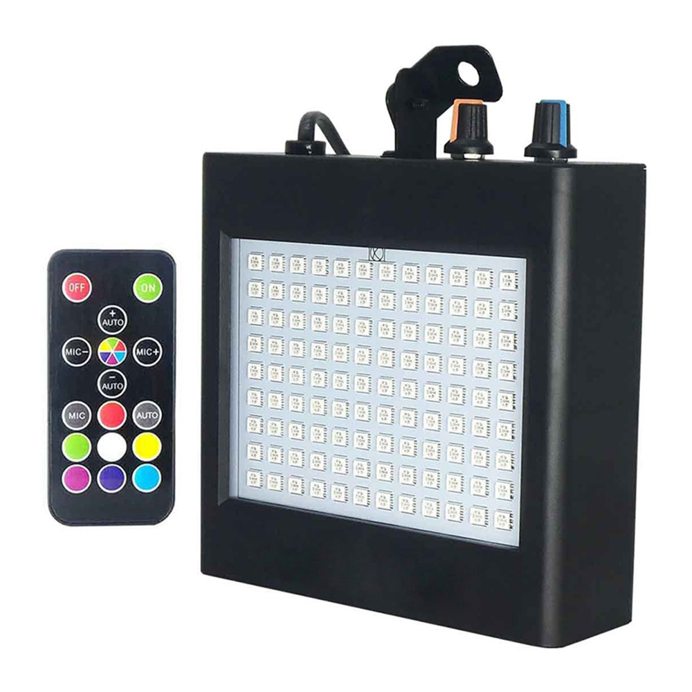AC100-240V 108 LEDs Super Bright 5050 RGB Stage Light Party Strobe Light Sound Activated Indoor Flashing Lamp Party DJ Disco KTV