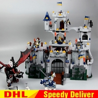 DHL IN Stock Lepin 16017 1023pcs Castle Kits The King's Castle Siege Building Block Clone 7094 Brick lesoings Toys