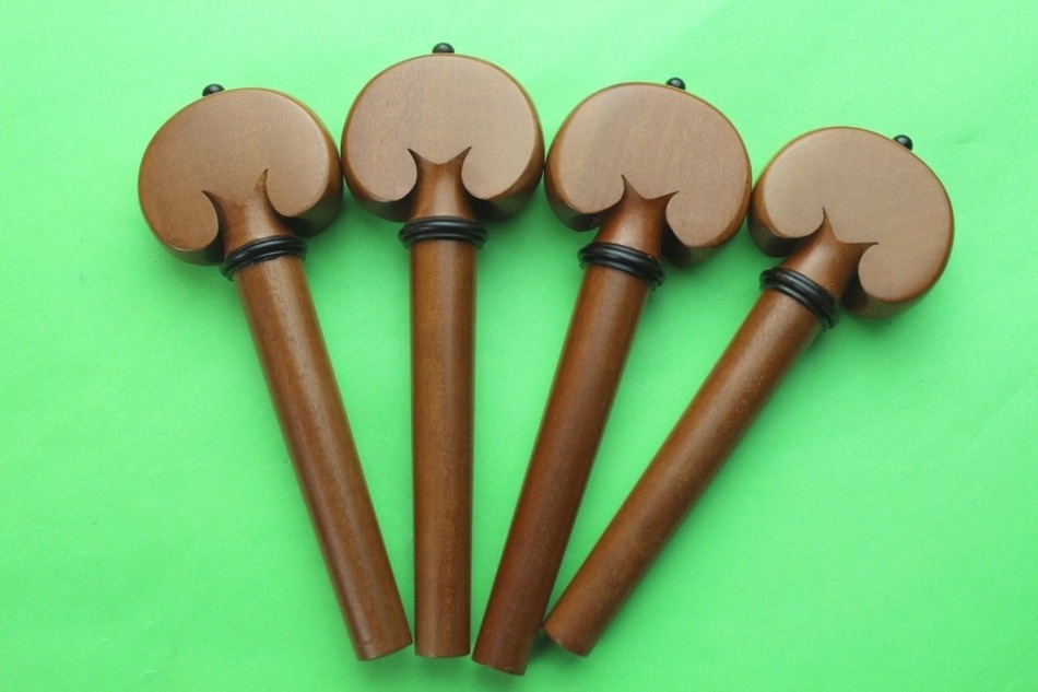 1 Set (4 Pcs) Jujube Wood Cello Tuning Pegs 4/4 Full Size , Cello Accessories