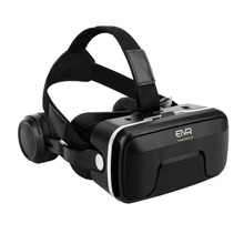 ETVR Box vr Points 3D Glasses Virtual Reality Helmet 4.0 Stereo Headphones Adjustable Straps for Xiaomi IOS/Android 4.7-6.0 Inch