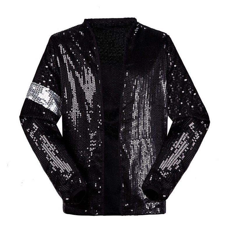 Michael Jackson Jacket Cosplay Michael Jackson Costume Billie Jean Armband Sequin Jackets Men Women Children Clothing