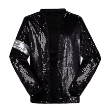 Michael Jackson Jacket Cosplay Costume Billie Jean Armband Sequin Jackets Men Women Children Clothing