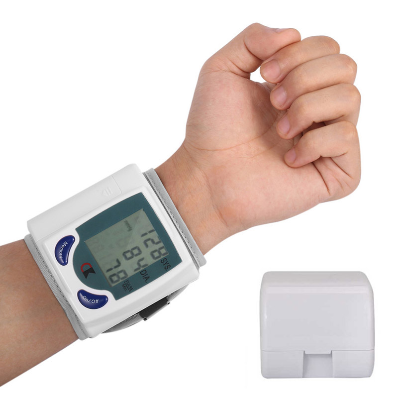 Automatic Digital Arm Wrist Blood Pressure Monitor Bracelet Meter Device Heart Beat Machine Automatic Sphygmomanometer Manual
