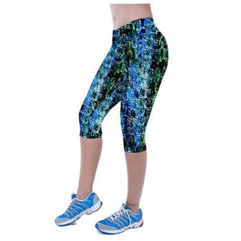 Feitong 3D Printing Sexy Pants Women Quick-drying Fitness Leggings 3/4 Trousers Bayan Tayt Leginsy Damskie Active Wear Women #OR