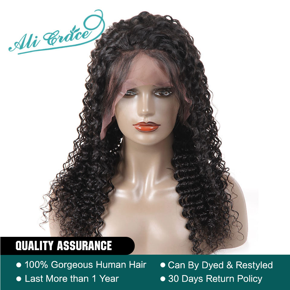 Lace Front Wigs Hair Extensions & Wigs Humor Curly Human Hair Wig Mongolian Remy Hair Lace Front Human Hair Wigs For Women Pre Plucked Hairline With Baby Hair Color 1b