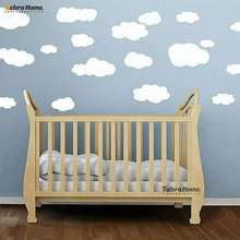 19pcs White Clouds Art Wallpaper Wall Stickers Decals Mural Nursery Kids Baby Room Decoration