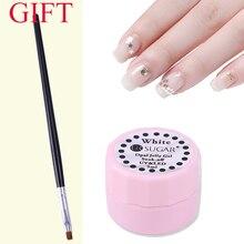 Ur Sugar Прозрачный Гель-лак для ногтей с кистью полупрозрачный белый замачиваемый УФ-Гель-лак краска гель УФ светодиодный лак
