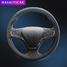 Car Braid On The Steering Wheel Cover for Chevrolet Cruze 2015 Volt 2016 2017 New DIY Auto Covers Car-styling