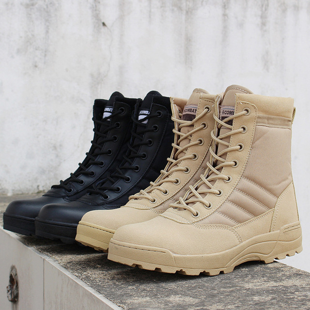 Men desert military tactical boots male Outdoor waterproof hiking shoes sneakers for women non-slip wear sports climbing shoes