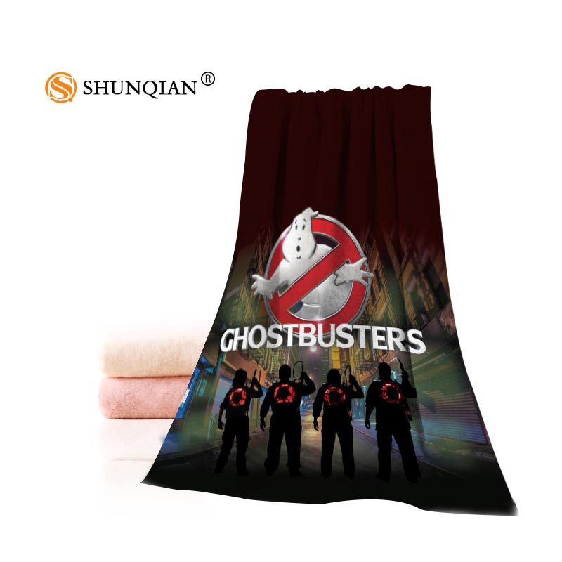 Custom Ghostbusters Towel Printed Cotton Face/Bath Towels Microfiber Fabric 35X75cm,70X140cm Shower Towels