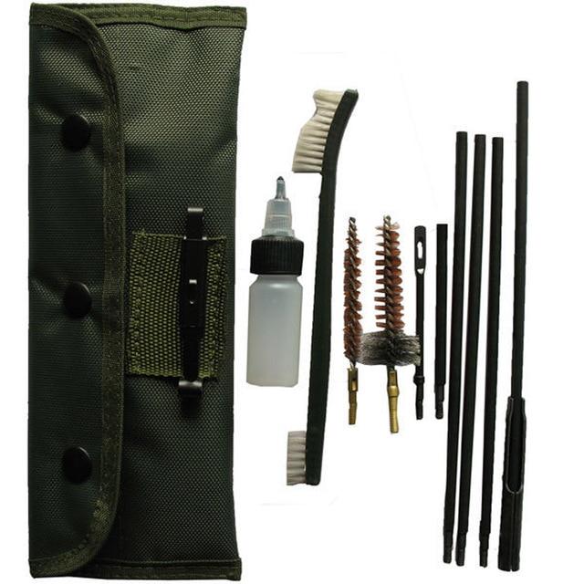 Hunting Rifle Gun .22cal, 5.56mm Rifle Gun Cleaning Kit Hunting Gun Care for Rifle Cleaning Kit