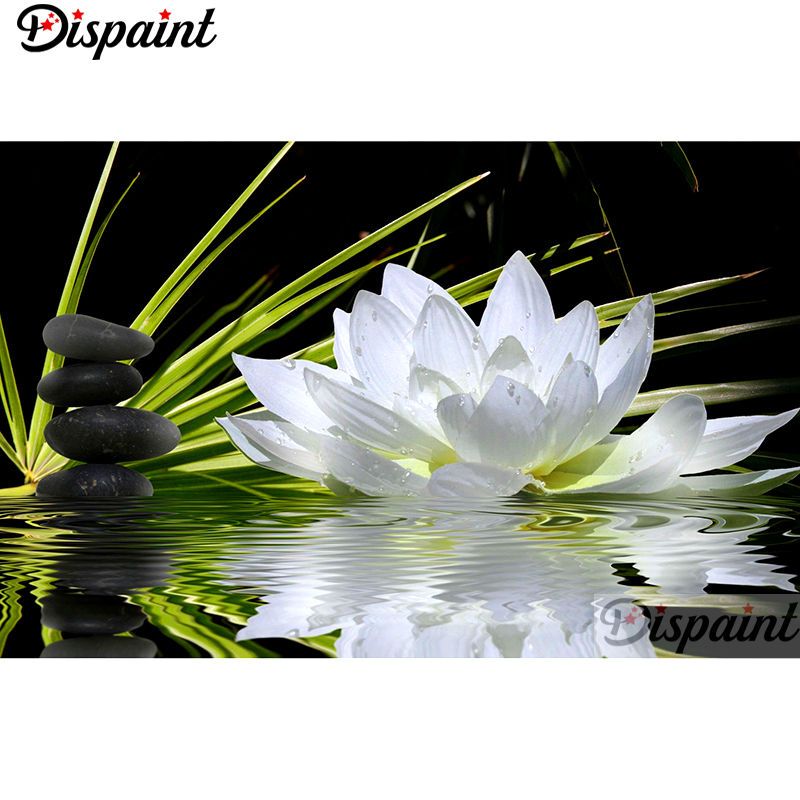 Dispaint Full SquareRound Drill 5D DIY Diamond Painting Flower stone 3D Embroidery Cross Stitch Home Decor Gift A10164