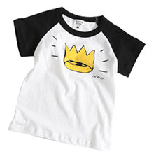 2016 New  Fashion  boys girls t-shirt cartoon casual cotton crown clothes  children's clothing, kids t shirts