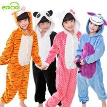 66b4029395bca Bébé Garçons pyjama filles Automne Hiver Enfants Flanelle Chaud animal  pingouin Point panda Onesie Nuit totoro Pyjamas pour Enfa.