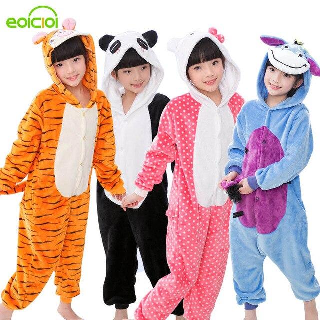 227a244150 Bebé niños niñas pijamas de otoño de los niños de invierno franela caliente  animal de punto