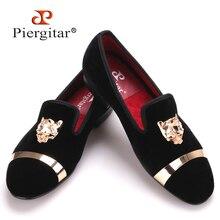 Новая мода мужчины партия и свадьба ручной работы мокасины мужчины бархатные туфли с PP тигра и золотой пряжкой мужской модельной обуви мужские квартиры(China (Mainland))