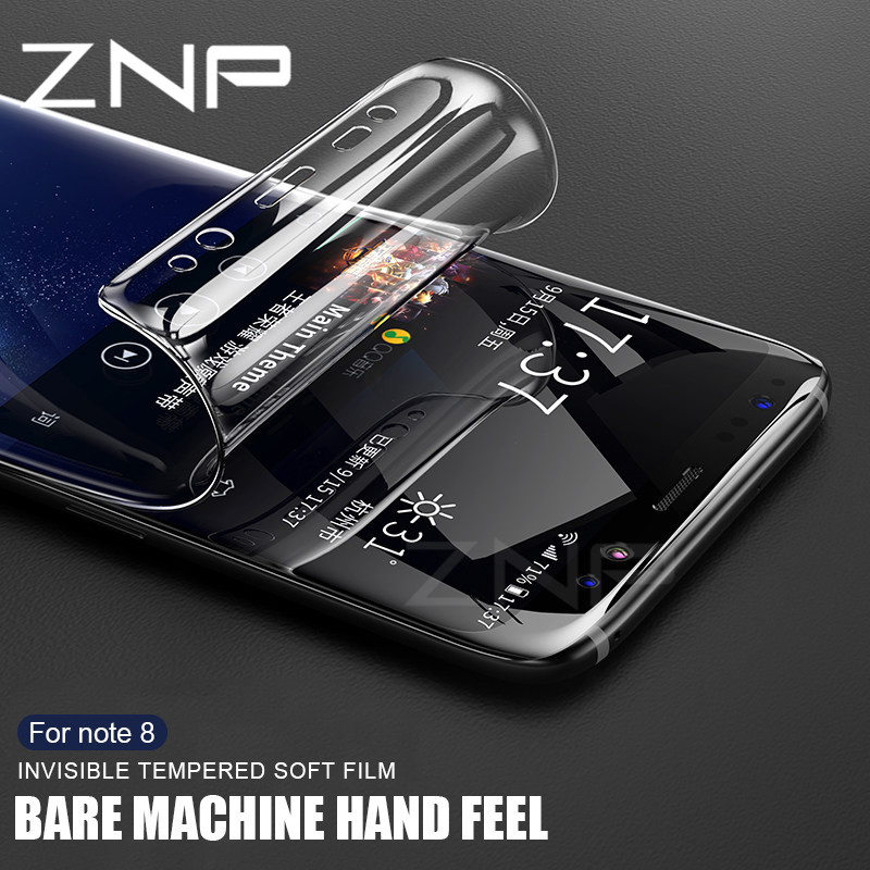 ZNP Protective Film For Samsung Galaxy Note 8 S8 S9 Plus Soft Full Curved Screen Protector Film For Samsung Note 8 ( Not Glass )